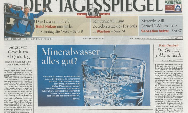 Der Tagesspiegel GERMANY July 25 2014
