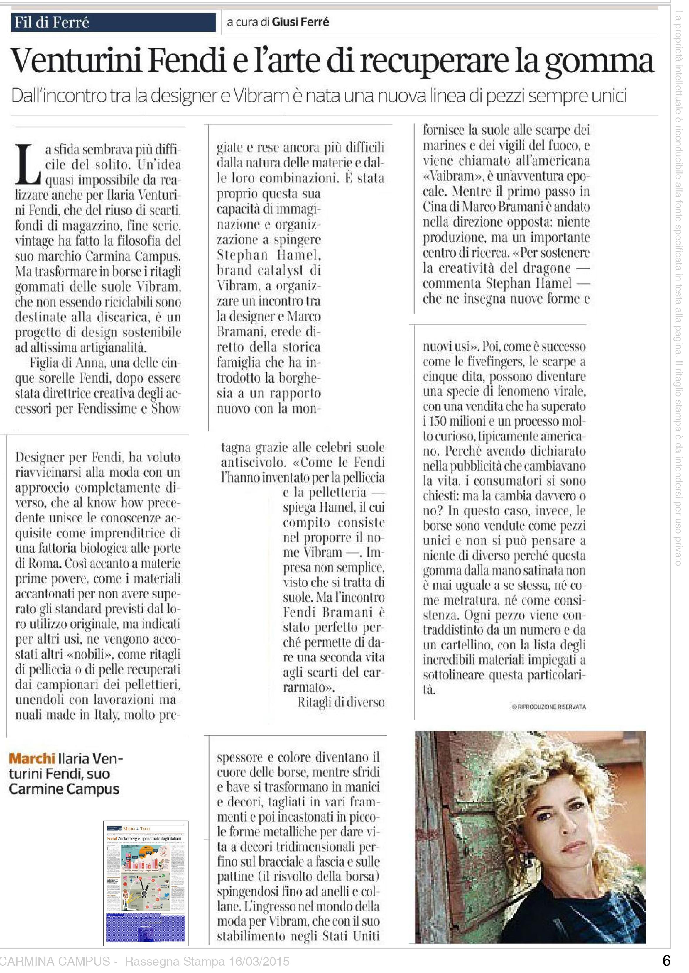 Corriere Economia March 16 2015