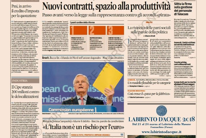 Il Sole24ore – March 1 2018