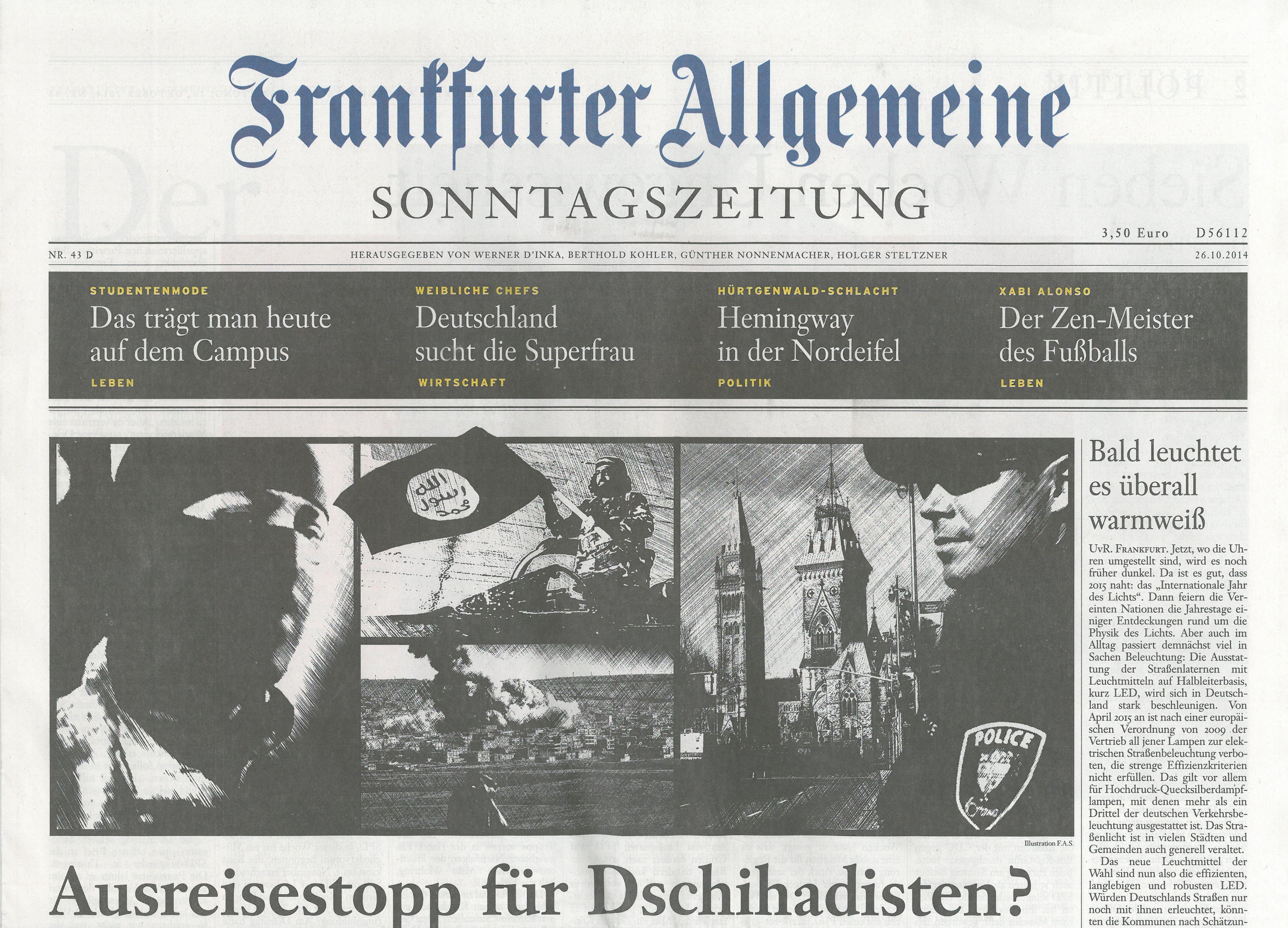 frankfurter allgemeine germania 26 ottobre 2014 carmina. Black Bedroom Furniture Sets. Home Design Ideas